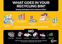 Recycling bin items