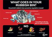 Rubbish bin items